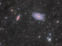 Gruppe der Galaxie-M82 und M81 stockbild