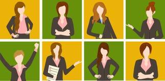 Gruppe der Geschäftsfrau Stockfoto