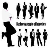 Gruppe der Geschäftsleute und des Büros Lizenzfreie Stockbilder