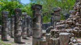 Gruppe der 1000 Spalten bei Chichen Itza, Yucatan, Mexiko Stockfotos