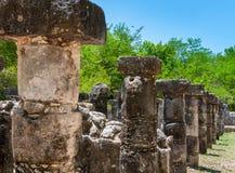 Gruppe der 1000 Spalten bei Chichen Itza, Yucatan, Mexiko Stockbild