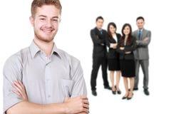 Gruppe des asiatischen jungen Wirtschaftlers Stockfotos