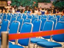 Gruppe des blauen Stuhls Lizenzfreie Stockfotos