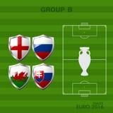 Gruppe a des Euros 2016 im Fußball Stockbilder