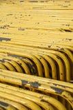 Gruppe des gelben Stahlstraßenblockes Lizenzfreies Stockbild