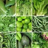 Gruppe des grünen Gemüses Stockbild