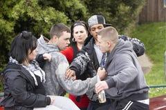 Gruppe des Jugend-Kämpfens Lizenzfreie Stockbilder
