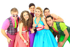Gruppe des jungen Lächelns Stockfoto