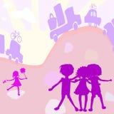 Gruppe des Kindspielens Stockbild