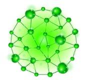 Gruppe des Molekül DNA-Zellsatzes Stockfotografie