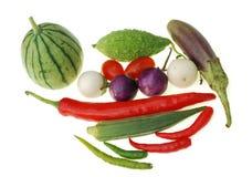 Gruppe des rohen Gemüses lizenzfreies stockbild