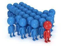 Gruppe des stilisierten Leutestands auf Weiß Lizenzfreies Stockbild