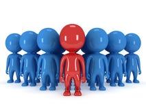 Gruppe des stilisierten Leutestands auf Weiß Lizenzfreie Stockfotos