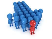 Gruppe des stilisierten Leutestands auf Weiß Lizenzfreies Stockfoto