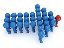 Gruppe des stilisierten Leutestands auf Weiß Lizenzfreie Stockfotografie