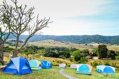Gruppe des touristischen Zeltes Lizenzfreie Stockfotos