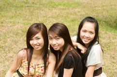 Gruppe des vietnamesischen Mädchens Stockfotografie