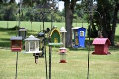 Gruppe des Vogel-Hauses Stockbilder