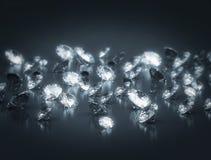 Gruppe Diamanten Stockbild