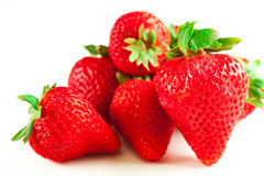 Gruppe Erdbeeren Lizenzfreies Stockbild