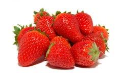 Gruppe Erdbeeren Stockbild