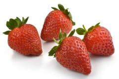 Gruppe Erdbeeren Lizenzfreies Stockfoto