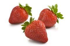 Gruppe Erdbeeren Stockfotos