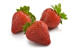 Gruppe Erdbeeren Stockfotografie