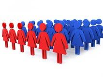 Gruppe Führer der Frauen Stockfoto