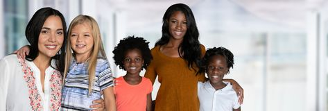 Gruppe Familien lizenzfreies stockfoto