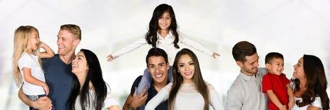 Gruppe Familien stockfotos