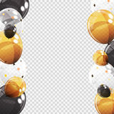 Gruppe Farbglatte Helium-Ballone mit Leerseite Stockfotos