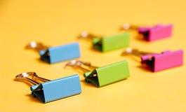 Gruppe farbige Clip lizenzfreie stockfotos