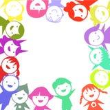 Gruppe Farbkinder Stockbild