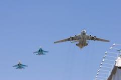 Gruppe Flugzeuge stockfotos