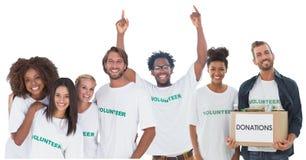 Gruppe Freiwillige Stockfotos