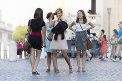 Gruppe Freunde im Urlaub in Rom (Italien) Stockbild