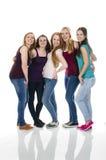 Gruppe Freundinnen Stockfoto