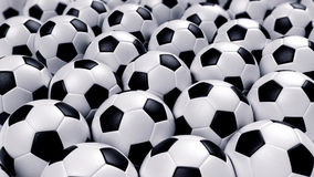 Gruppe Fußballkugeln Stockfoto