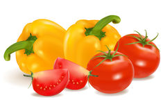 Gruppe Gemüse. Lizenzfreie Stockfotografie