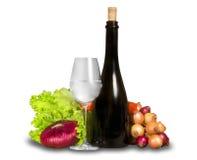 Gruppe Gemüse mit Wasserglas und BO Stockfotografie