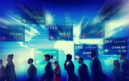 Gruppe Geschäftsleute Börse-Konzept- stockfotos