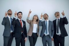 Gruppe Geschäftsleute, die sich ihre Finger zeigen Stockfotografie