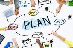 Gruppe Geschäftsleute in einer Sitzung über Planung Lizenzfreies Stockfoto