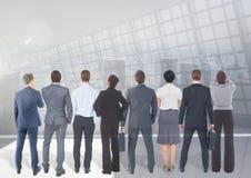 Gruppe Geschäftsleute mit Übergangshintergrund stockfoto