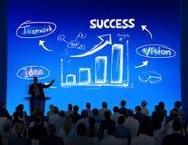 Gruppe Geschäftsleute mit Darstellungs-Konzept Lizenzfreies Stockfoto
