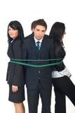 Gruppe Geschäftsleute oben gebunden Lizenzfreie Stockfotos