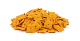 Gruppe geschmackvolle Käse-Cracker Lizenzfreie Stockfotos