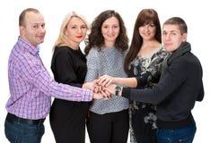 Gruppe glückliche Geschäftsleute Stockbild