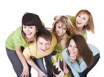 Gruppe glückliche junge Leute. Stockbilder